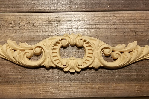 Horizontal Embellishment with opening , 12.5 inches long, Carved #1366