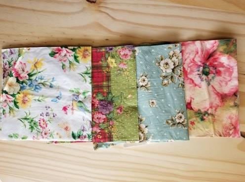 decoupage. napkins, distressed, wallpaper, tracysayerstrombetta
