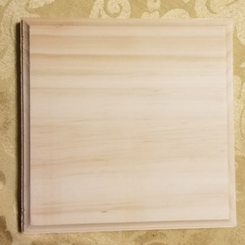 Wood square with beveled edge  7x7 inches 3/4 inches thick