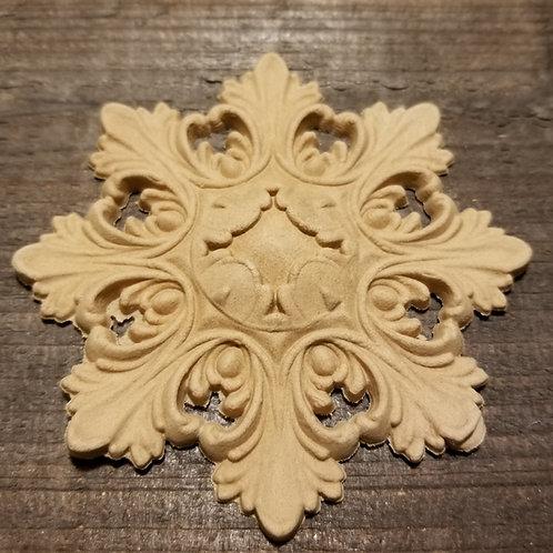 8 point Medallion Applique , WoodUbend Moulding, Furniture Applique #1323