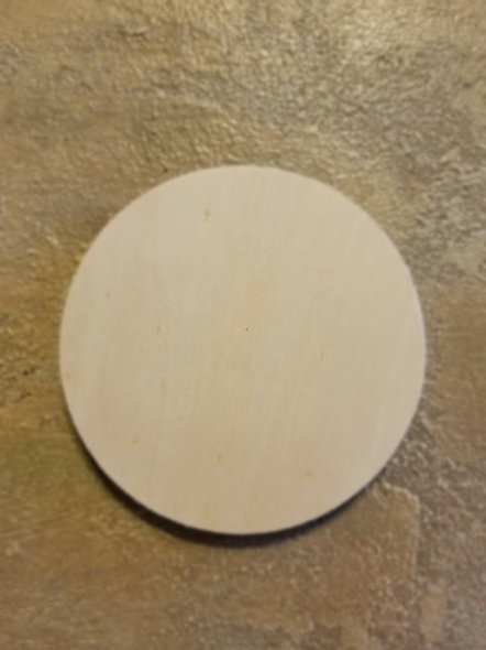 Unfinished Wood Coaster: Circle, 4 Inches