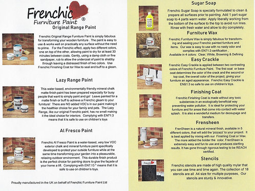 Free Download!  Frenchic Furniture Paint Product Guide