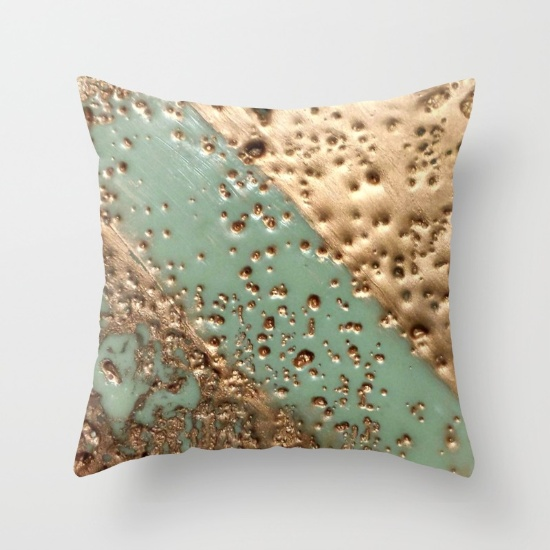"Pillow made with ""Melting Gold"""