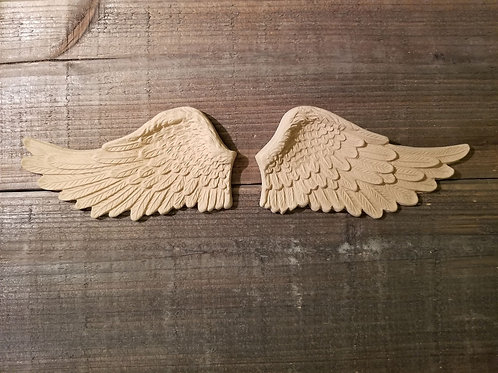Pair of Wings Embellishment, WoodUbend Molding, Angel Wings #1207