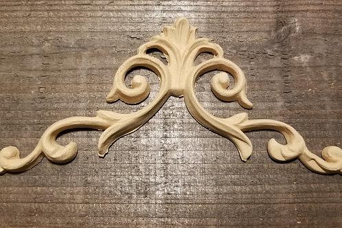 Wide Angle Applique , WoodUbend Molding , Furniture Applique #1232