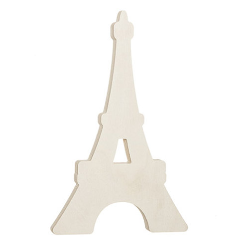 Eiffel Tower Standing Wood Shape: 5 X 8.13 Inches