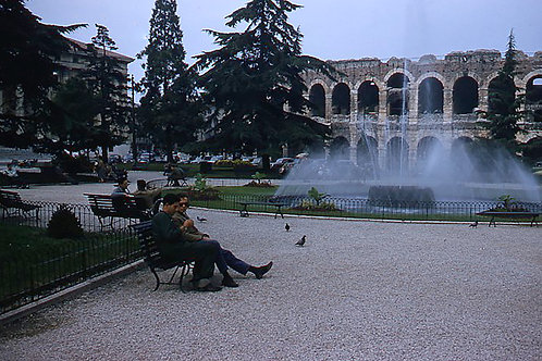Vintage Europe Verona Amphitheater, Italy - Original Photography. Instant