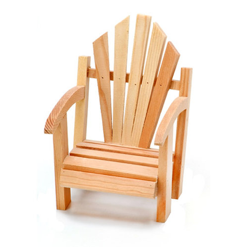 Wood Slat Chair - Unfinished - 3.74 X 4.2 X 5.5 Inches