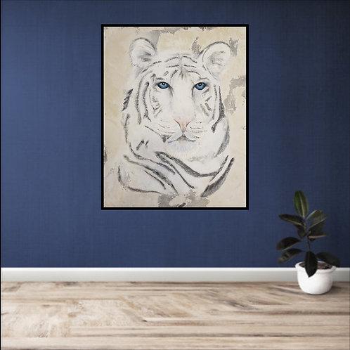 Original Art - White Tiger Original Painting (highly textured)
