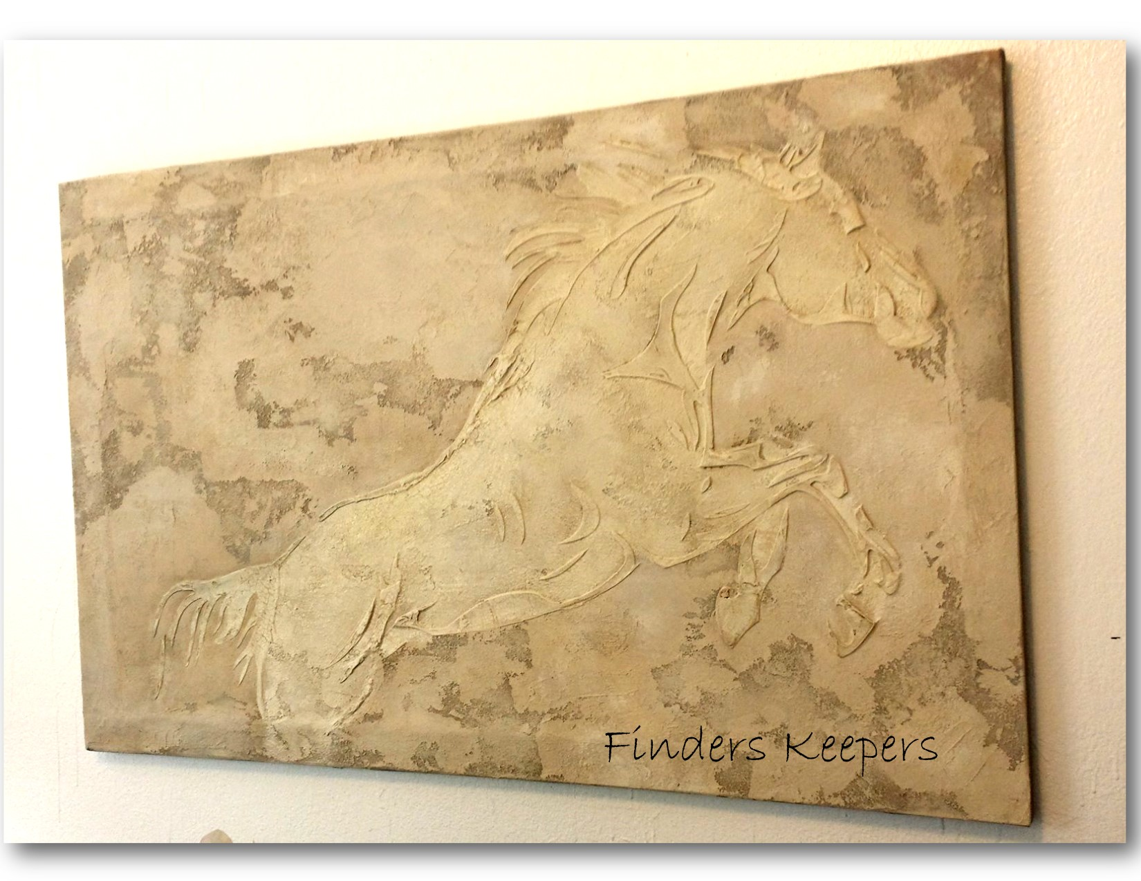 Dream Horse Stone & plaster painting