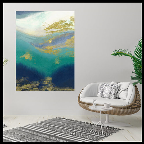 Original Art - Morning View - Hand painted, Abstract painting of blended colors
