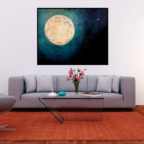 "Original Art  ""Star Light Star Bright""  Textured Painting"
