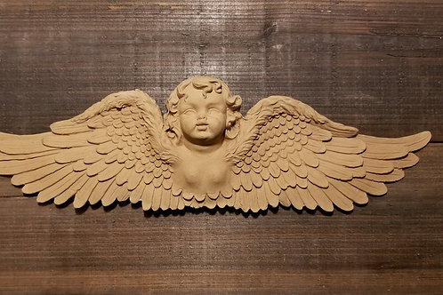 Applique , Wood Ubend Moulding, Angel Wings, Cherub, #519