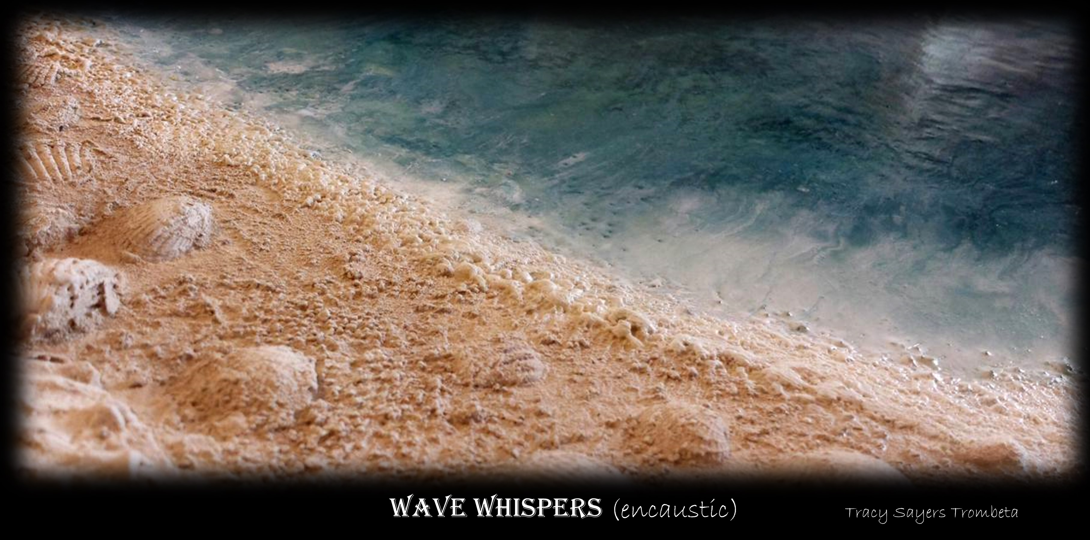 Wave Whispers (encaustic)