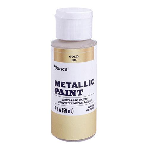 Metallic Craft Paint - 2 oz -Gold & Silver