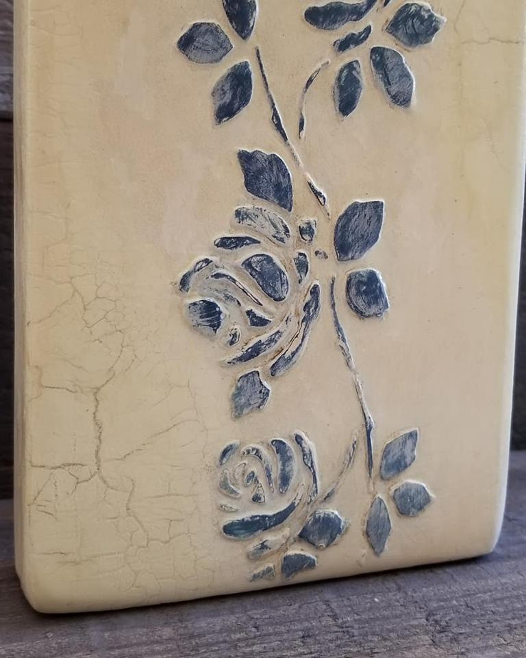 Wedgewood Blue Roses - painting