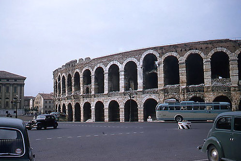 Vintage Europe Verona Arena, Italy - Original Photography. Instant