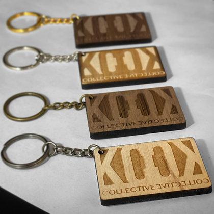 Hardwood Keychains