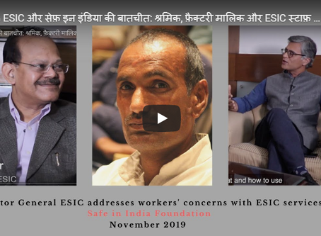 DG ESIC addresses workers' concerns; and messages for owners/managers and ESIC staff