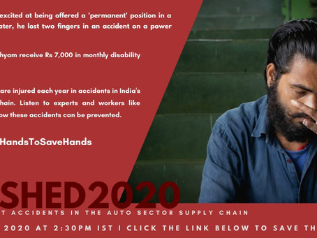 CRUSHED 2020 launch on Thursday; #JoinHandsToSaveHands