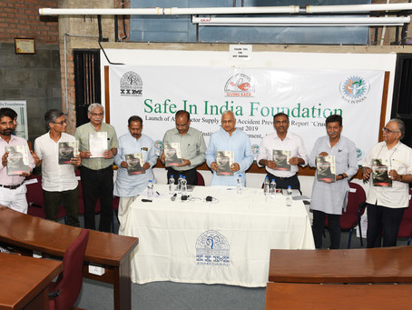 "Safe In India Launches ""CRUSHED'; it's Auto-sector Accident Prevention Report. Join Han"