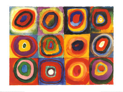 Squares and Concentric Circles, Kandinsky