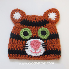 Tiger Baby Hat - Free Crochet Pattern