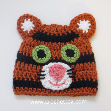 Tiger Baby Hat - Free Crochet Pattern