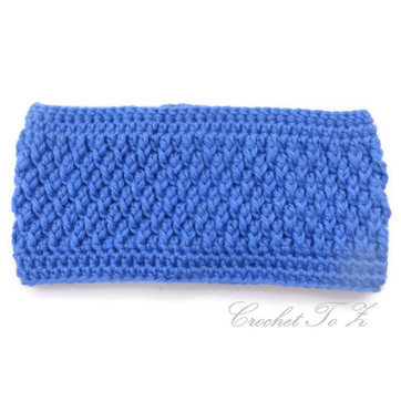 Textured Ear Warmer Headband - Free Crochet Pattern