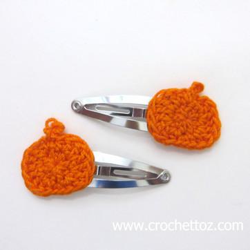 Pumpkin Hair Clips