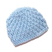 Newborn Textured Beanie - Free Crochet Pattern