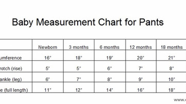 Baby Measurement Chart for Pants