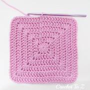Solid Double Crochet Square in the Round