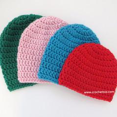 Basic Baby Beanie - Free Crochet Pattern