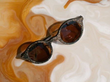 Organic coffee ground sunglasses by Ochis Coffee