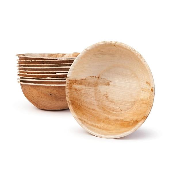 Round Palm Leaf Bowls