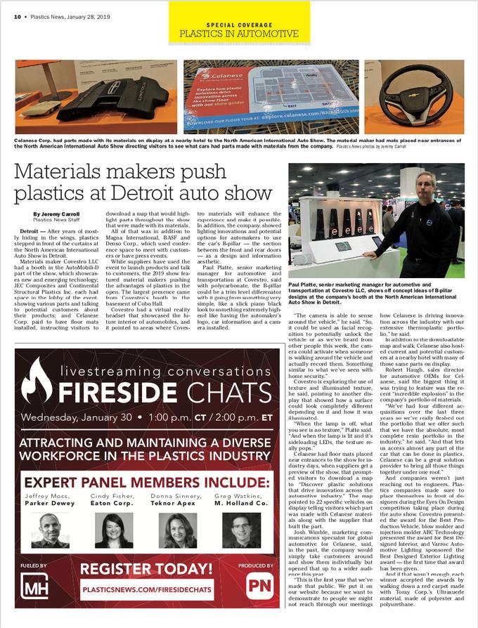 Materials makers push plastics at Detroi