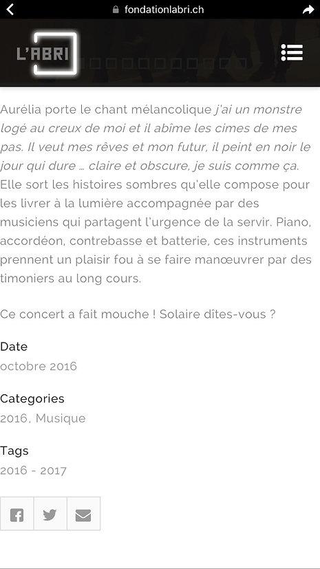 L'ABRI Aurelie 09.16