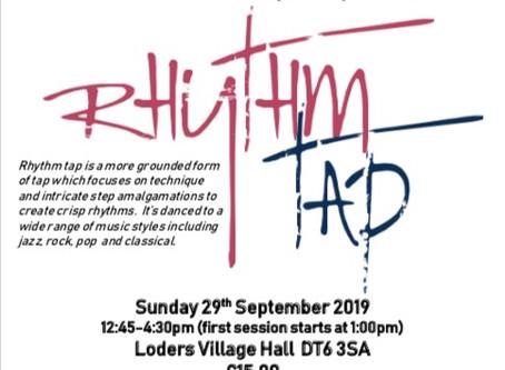 Rhythm Tap workshop in Dorset - Sunday, 29 September 2019