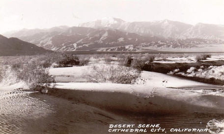 Colorado Desert Scene, where Cathedral City is now