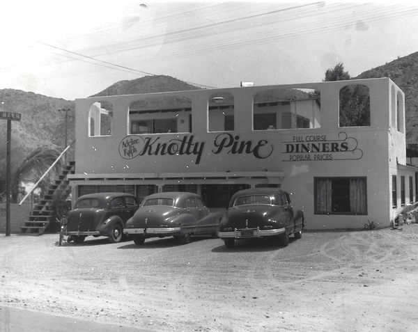 Knotty Pine Cafe and Tavern in 1945 Cathedral City