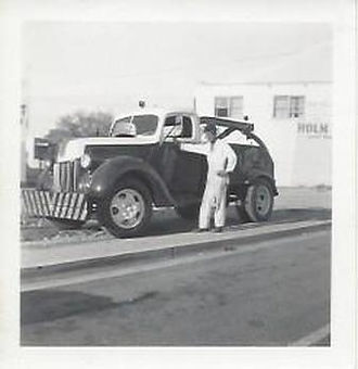 earth-moving vehicle in 1940s Cathedral City, CA