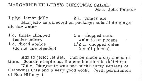 Margarite Hillery's Christmas Salad