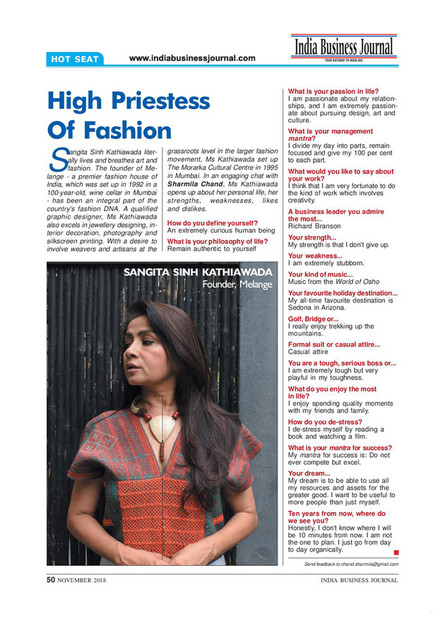 India Business Journal November 2018 Issue