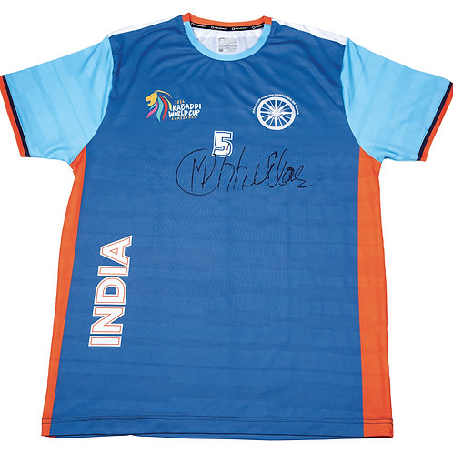 1 - Match worn Indian national Kabaddi team jersey and match used shoes of