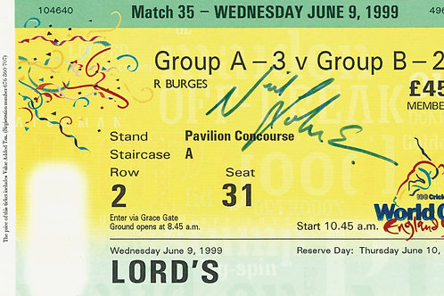 LOT 47 - Neil Johnson signed World Cup Ticket 1999