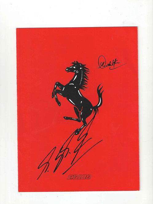 LOT 60 - a) Michael Schumacher & Sachin Tendulkar signed Ferrari car specificati
