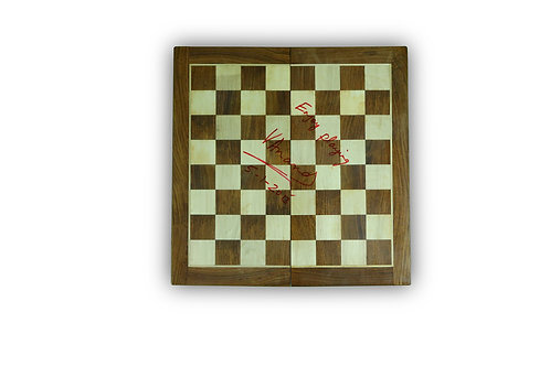 LOT 59 - Signed Chess Board by former multiple World Champion Vishwanathan Anand