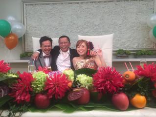 友人の結婚式に出席致しました