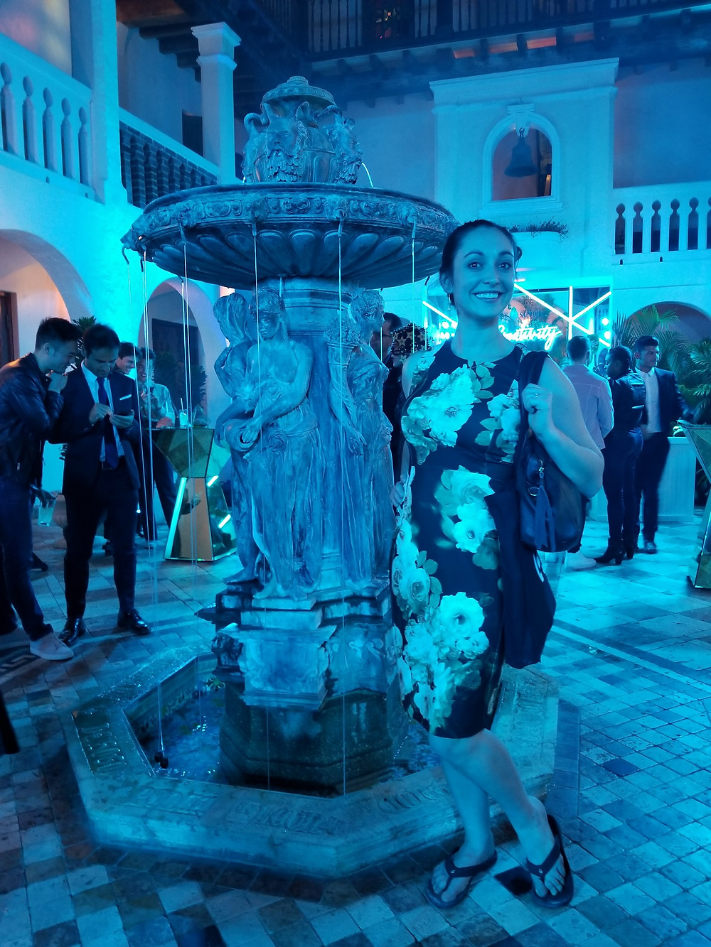 Sara O'Connor at The Versace Party in Miami Art Week